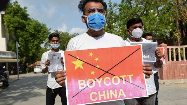 中印衝突升溫 印度出口商:抵制中國貨恐傷害製造業(圖片:AFP)