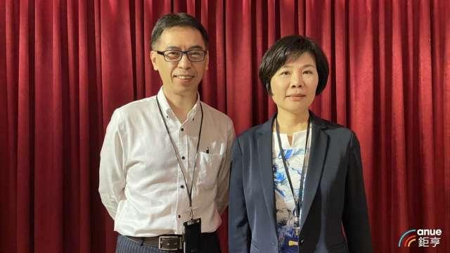 左為金萬林財務長楊文明、右為董事長陳惠娥。(鉅亨網記者沈筱禎攝)