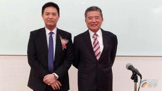 豐興董事長林明儒(左)及總經理林大鈞。(鉅亨網資料照)