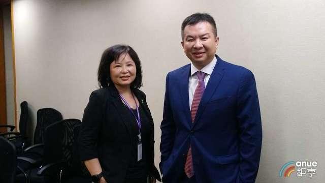 亞果遊艇董事長侯佑霖(右)和董事鄭寶蓮(左)。(鉅亨網記者王莞甯攝)