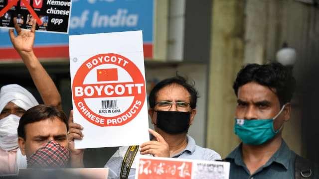 印度反制中國 陸廠擔憂衝擊手機需求(圖片:AFP)