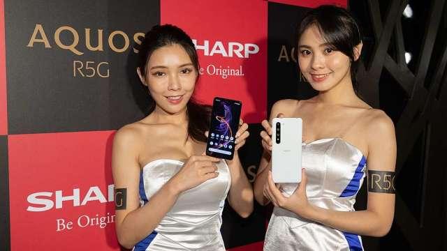 夏普SHARP第一支5G手機AQUOS R5G 正式登台。(圖:台灣夏普提供)
