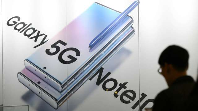 三星5G市場地位動搖 恐被蘋果、華為超越  (圖片:AFP)
