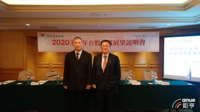 群益證總經理賈中道(右)和群益投顧董事長蔡明彥(左)。(鉅亨網記者王莞甯攝)