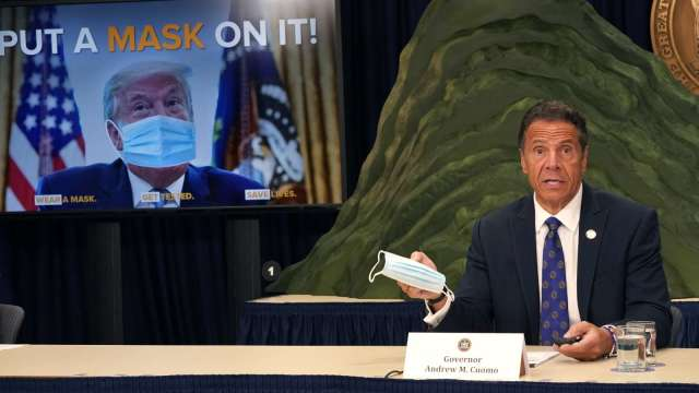 美疫情惡化確診將破300萬 古莫:川普害的 (圖片:AFP)