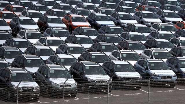 日本6月中上旬出口年減25.2% 汽車出口減少影響大 (圖片:AFP)