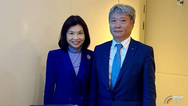 左為杏一董事長陳麗如,右為總經理蔡德忠。(鉅亨網資料兆)