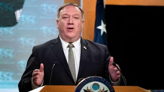美國務卿:川普將採取行動 拒絕中國盜取美國數據 (圖片:AFP)