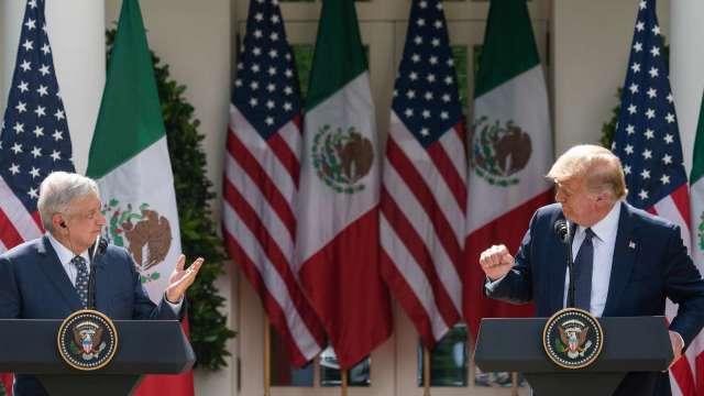 美墨聯手!川普與墨西哥總統簽署聯合聲明 (圖片:AFP)