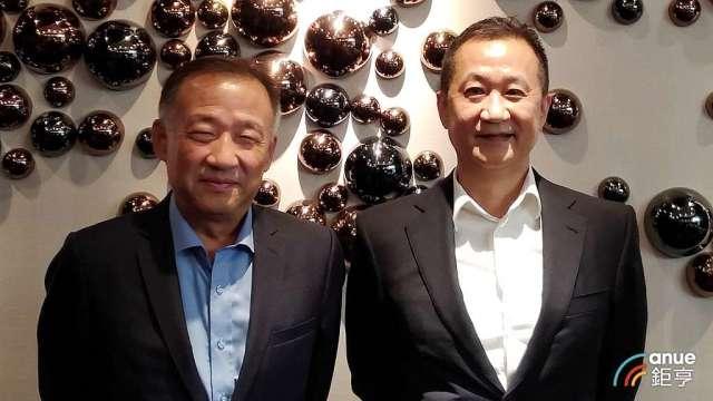 兆利董事長劉光華(左)及總經理張台沅。(鉅亨網資料照)