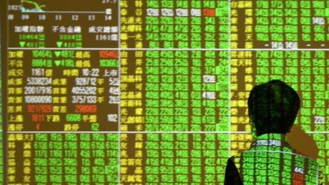 台股跌逾百點全盤盡墨 三大法人土洋對作賣超28億元。(圖:AFP)