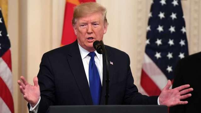 美中關係嚴重受損 川普:不可能和中國達第二階段貿易協議 (圖片:AFP)