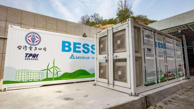 儲能系統能解決電力削峰填谷難題,各國加強電力管理下,相關商機也隨之爆發,圖為台達電為金門塔山電廠夏興分廠建置容量2MW1MWh的儲能系統。(圖:台達電提供)