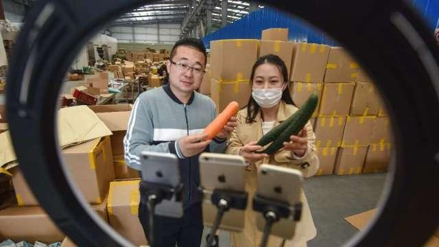 沒了中國遊客 日本企業利用「直播帶貨」拚外銷(圖:AFP)