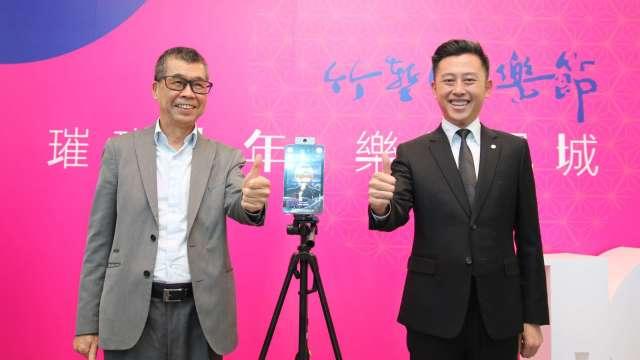 左為聯發科董事長蔡明介、右為新竹市長林智堅。(圖:業者提供)