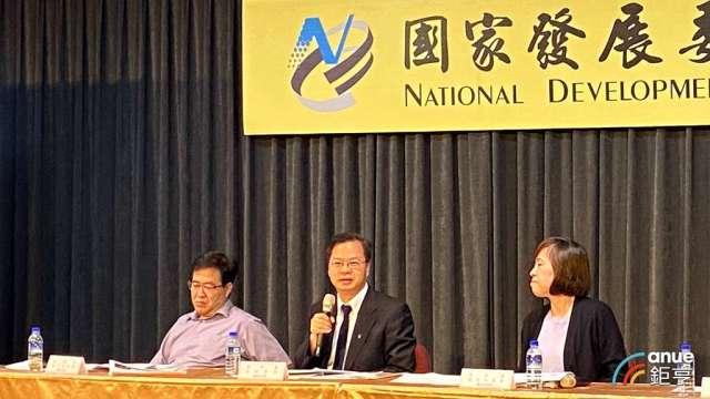 國發會通過國發計畫,設定未來四年經濟成長率達2.6-3.4%。(鉅亨網記者劉韋廷攝)