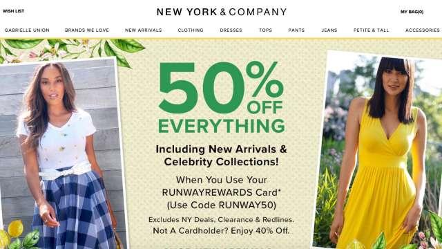 女裝品牌New York & Co母企申請破產 百家店面恐永久關閉  (圖:New York & Co官網)