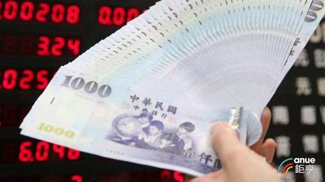 台幣今日早盤再度飆升1.5角。(鉅亨網資料照)
