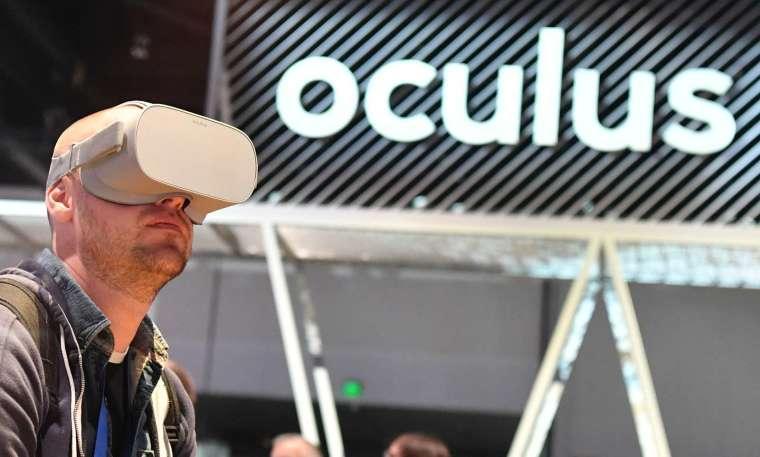 Facebook 的 VR 眼鏡「Oculus」 (圖片:AFP)
