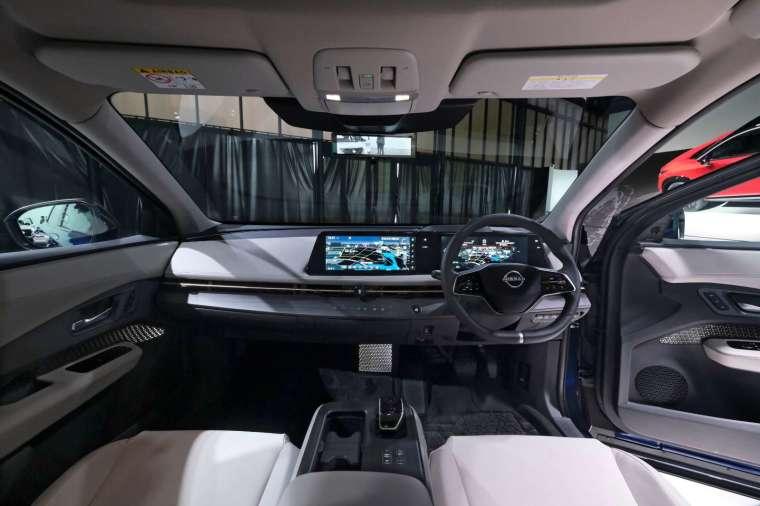日產全新電動車 ARIYA 內裝 (圖片:AFP)