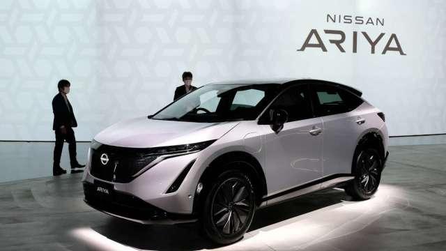 日產發表新款電動車ARIYA 週三股價大漲7.25% (圖片:AFP)
