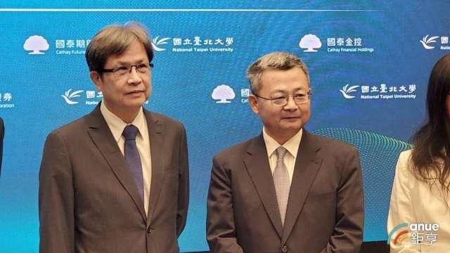 國泰證券董事長莊順裕(右)。(鉅亨網記者王莞甯攝)