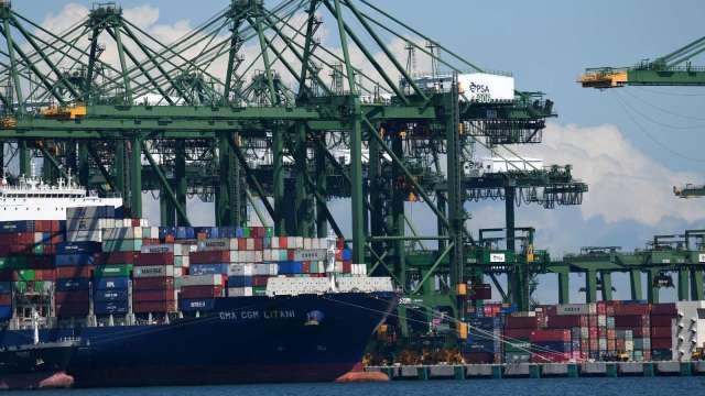 新加坡6月份出口成長16.1% 扭轉5月份下跌趨勢(圖片:AFP)