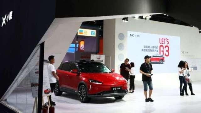 小鵬汽車完成5億美元融資 新款P7進入交車階段  (圖:AFP)