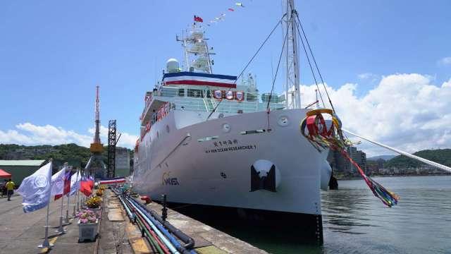 台船達成「國船國造」目標,首次建造海研船。(圖:台船提供)
