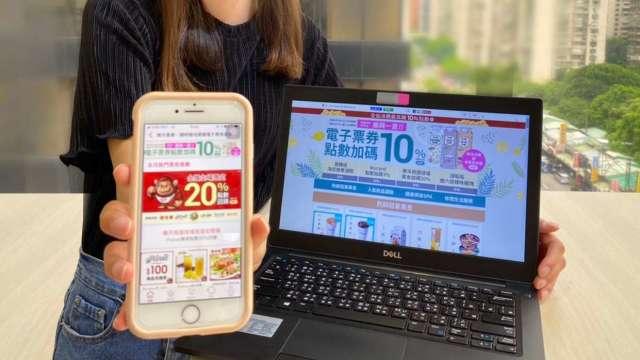 台灣樂天市場電子票券服務一周來熱銷超過萬張。(圖:台灣樂天提供)