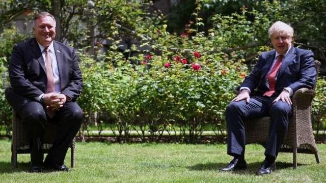 美國政府盛讚英國禁用華為決定 討論建立聯盟共抗中國(圖:AFP)