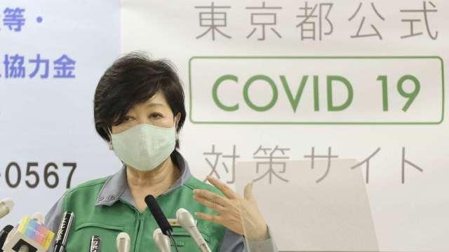 東京累計肺炎確診突破萬人!四連休恐加重疫情 (圖片:AFP)