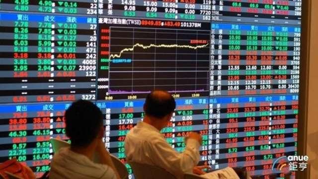 台股今 (22) 日資金行情持續發酵,上漲 75.72 點。(鉅亨網資料照)