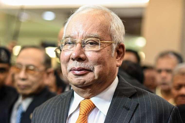 上圖為馬來西亞前總理納吉布 (圖:AFP)