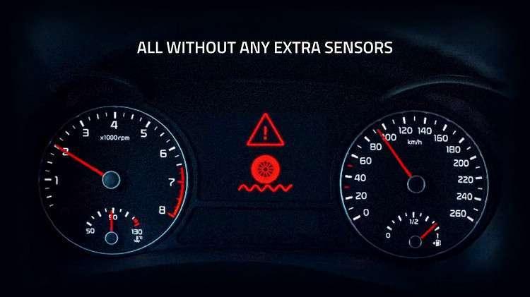 ▲行駛中輪胎出現狀況,系統就會立即回報。