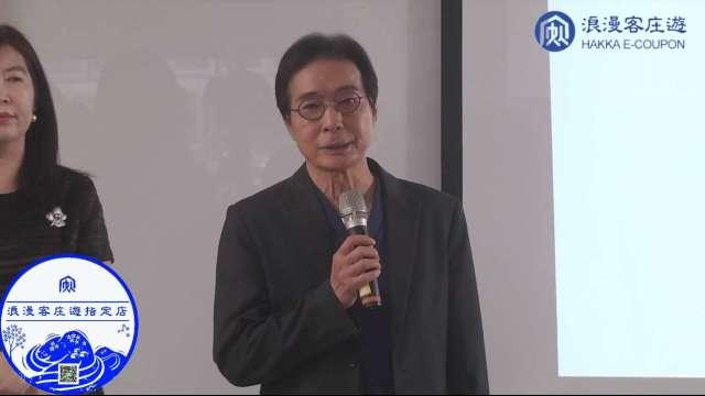 客委會副主委鍾孔炤 。(圖:取自客委會臉書直播)