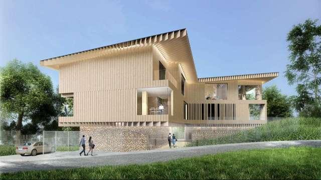 日本建築大師隈研吾設計「Villa 3別墅」示意效果圖。(圖:台開提供)