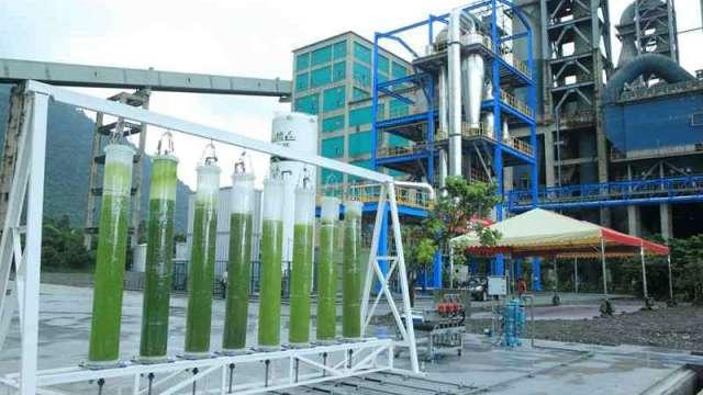 工研院與台泥合作將鈣迴路技術捕捉的高純度二氧化碳,應用於微藻的養殖上,創造二氧化碳之高值化利用。(圖:工業技術資訊月刊)
