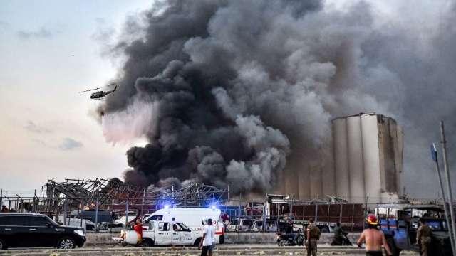 黎巴嫩貝魯特港發生大爆炸 導致數千人傷亡(圖:AFP)