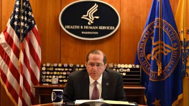 美國衛生部長阿札爾 (Alex Azar) 近日將訪台。(圖:取自twitter.com/SecAzar)