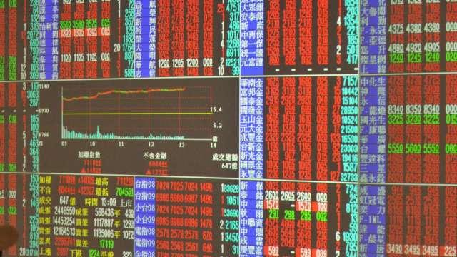 電子權值股衝鋒 台股續寫收盤新高 上漲92點收12802點。(圖:AFP)