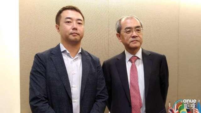 研華董事長劉克振(右)以及董事劉蔚志。(鉅亨網資料照)