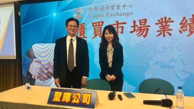 左為聖暉總經理賴銘崑、右為財務長曹耘涵。(鉅亨網資料照)