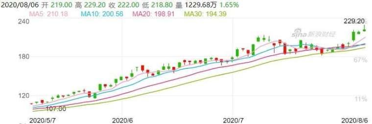 資料來源: 新浪財經, 美團股價日線走勢