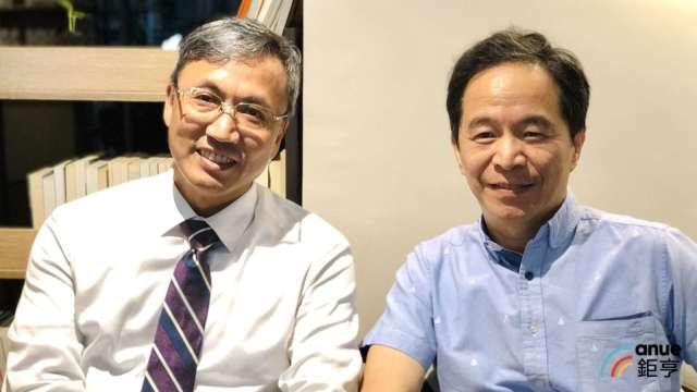 左為系微總經理莊鈴文、右為系微董事長王志高。(鉅亨網資料照)