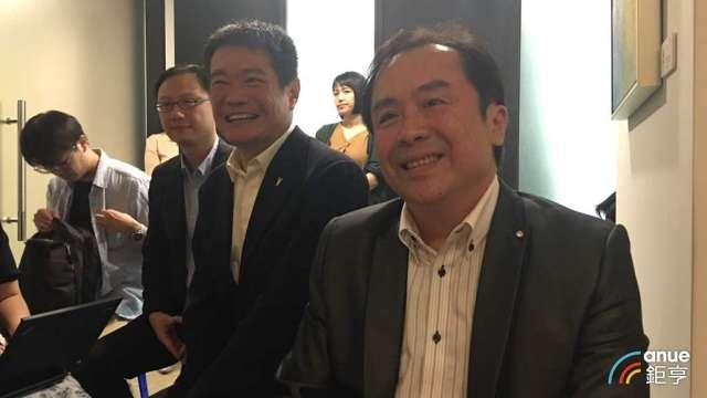 王品董事長陳正輝(右)和新任副董事長李森斌(左)。(鉅亨網資料照