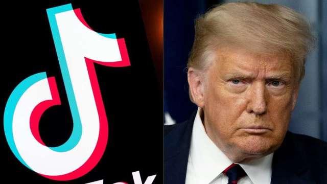 川普簽署行政命令 45天後禁用TikTok、微信(圖:AFP)