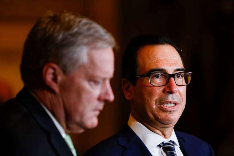 白宮再次拒絕民主黨提議削減「兆美元」刺激法案支出 (圖片:AFP)
