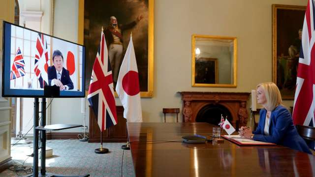 英日戮力月底前敲定雙邊貿易協議大綱 英豬繼續挺進日本市場(圖片:AFP)
