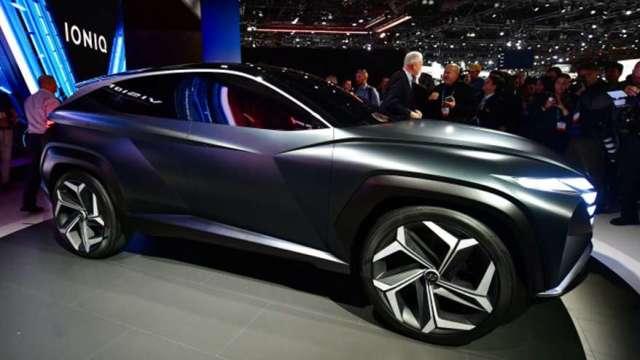 現代汽車宣布新品牌IONIQ 4年3款搶進電動車市(圖:AFP)